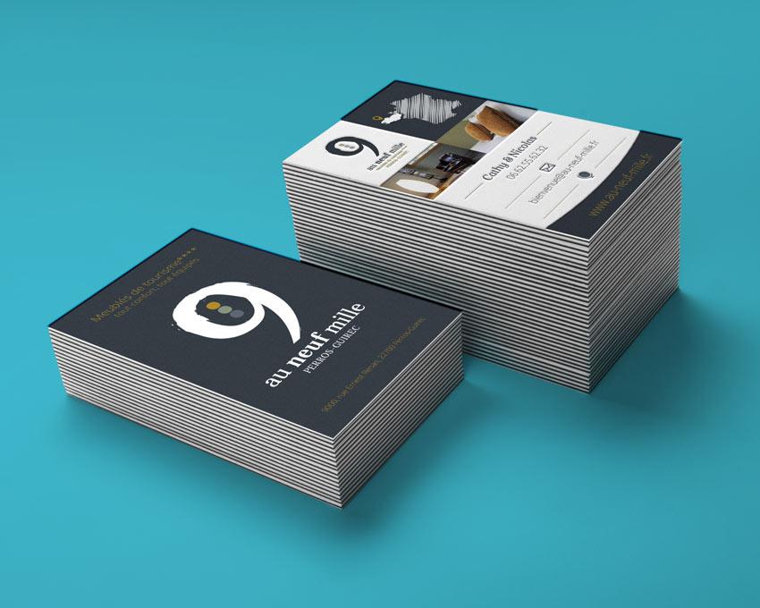 Cartes de visites créées par Equodesign votre agence de communication à Lannion
