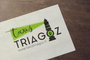 Logotype Noir et Vert Les Taxis Triagoz